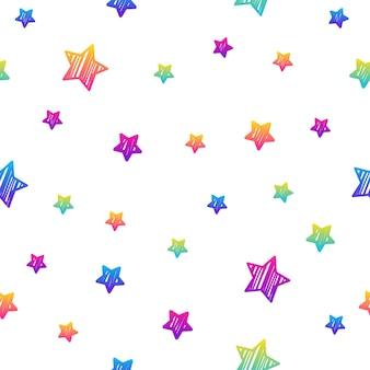 Nahtloser musterhintergrund des abstrakten regenbogens. moderne futuristische illustration für geburtstagskarte, partyeinladung, tapete, urlaubsverpackungspapier, stoff, taschendruck, t-shirt, werkstattwerbung.