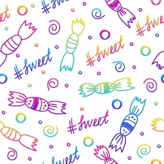 Nahtloser musterhintergrund des abstrakten regenbogens. modernes muster für geburtstagskarte, kinderpartyeinladung, ladenverkaufstapete, weihnachtsgeschenkpapier, stoff, taschendruck, t-shirt, werkstattwerbung