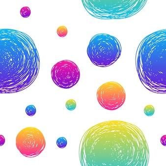 Nahtloser musterhintergrund des abstrakten regenbogens. modernes muster für grußkarten, geburtstagseinladungen, menüs, tapeten, weihnachtsgeschäft, taschendruck, t-shirts, werkstattwerbung usw.