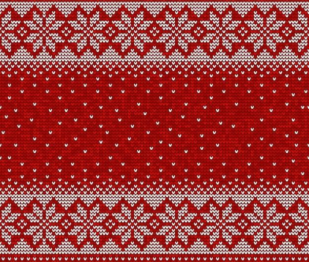 Nahtloser musterhintergrund des roten und weißen strickens