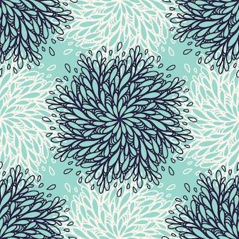 Nahtloser musterhintergrund mit blumenelement. trendy textil, stoff, verpackung. oberflächendesign.