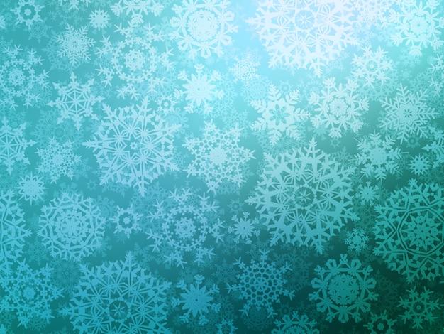 Nahtloser musterhintergrund weihnachten mit schneeflocken.