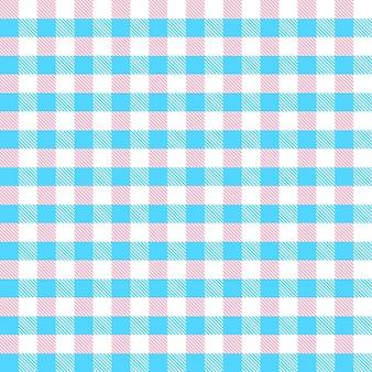 Nahtloser musterkäfig mit rosa und blauen streifen