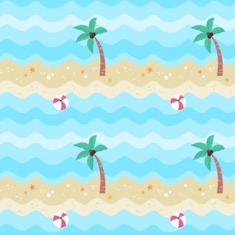 Nahtloser mustersommer am strand