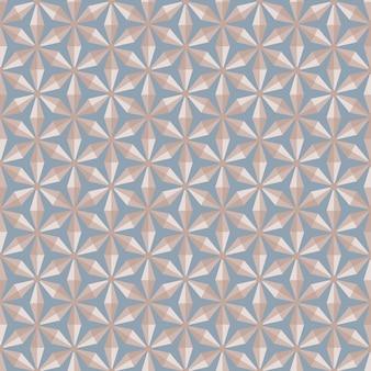 Nahtloser mustervektor der abstrakten geometrischen hexagondiamantform