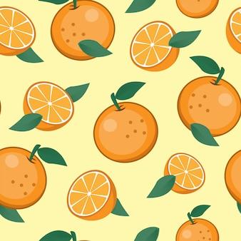 Nahtloser orangen-frucht-muster-hintergrund