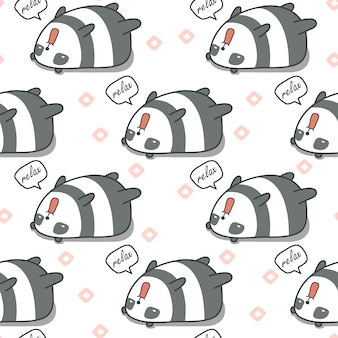 Nahtloser panda ist faules muster.