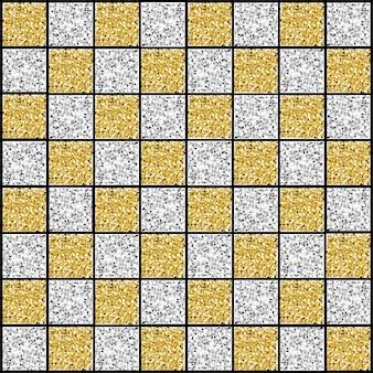 Nahtloser quadratischer musterhintergrund des gold- und silberfunkelns