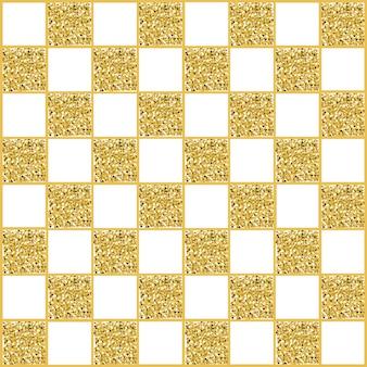 Nahtloser quadratischer musterhintergrund des gold- und weißen funkelns