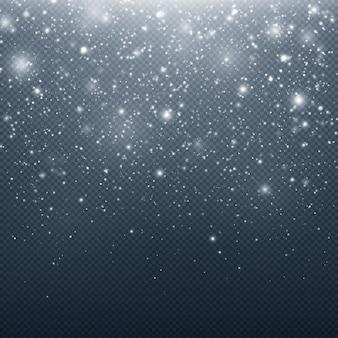Nahtloser realistischer fallender schnee schneeflocken realistischer weihnachtsschnee