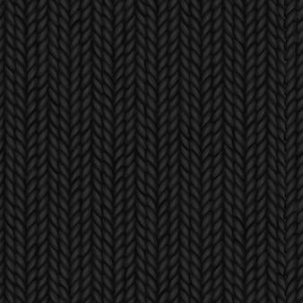Nahtloser schwarzer gestrickter backgorund