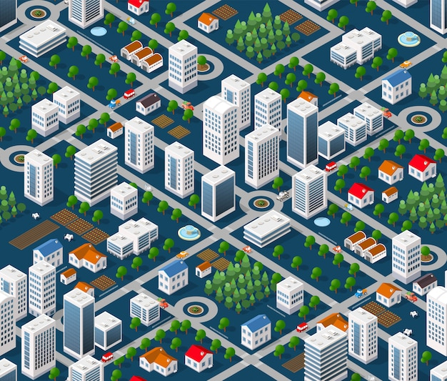 Nahtloser stadtplan