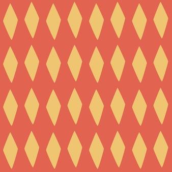 Nahtloser vektor argyle muster gelbe rauten auf rotem hintergrund