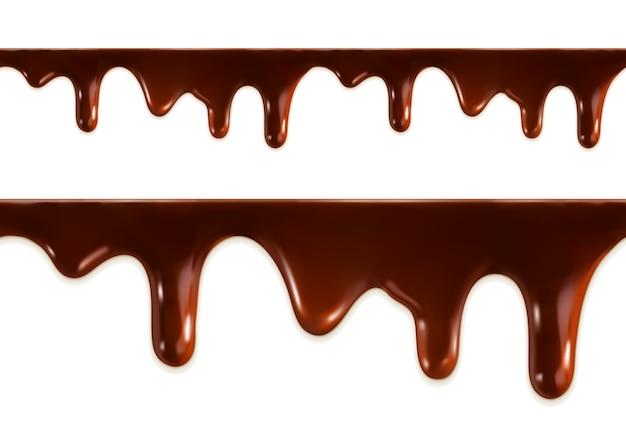 Nahtloser vektor der geschmolzenen schokolade