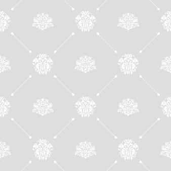 Nahtloser vektor-hochzeitshintergrund weiß auf grauem oder silbernem muster