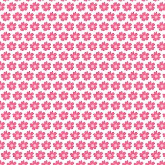 Nahtloser vektorhintergrund der kleinen künstlerischen gänseblümchen-blumenknospen