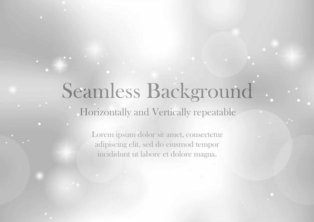 Nahtloser vektorzusammenfassungshintergrund mit lichtern und halos. horizontal und vertikal wiederholbar.