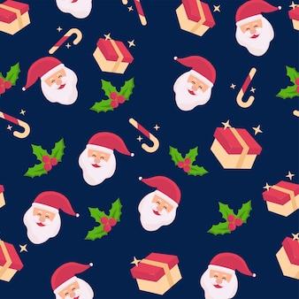 Nahtloser weihnachtsthema-muster-hintergrund.