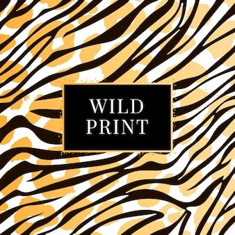 Nahtloser wilddruck mit zebramuster