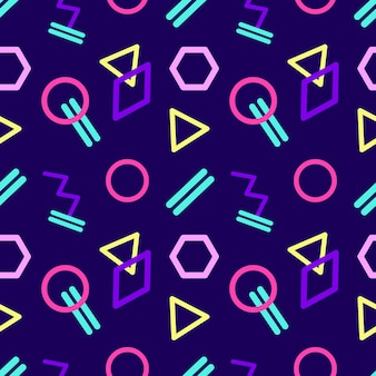 Nahtloses abstraktes geometrisches muster im retrostil.