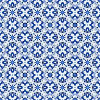 Nahtloses abstraktes muster mit diagonalen streifen auf blauem hintergrund