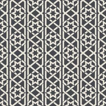 Nahtloses abstraktes ziermuster im arabischen stil. hintergrund nahtloses, arabisches muster, dekorationstextilmuster. vektorillustration