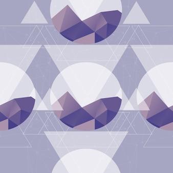 Nahtloses abstraktionsmuster mit berg