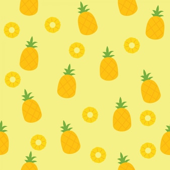 Nahtloses ananasmuster für textilgewebe oder tapete