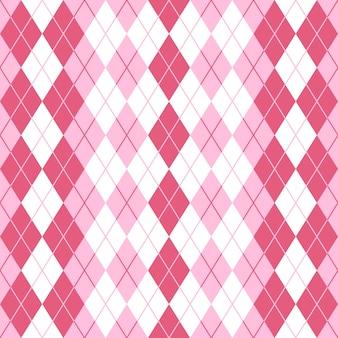 Nahtloses argyle plaid-rosa-muster.