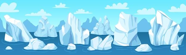 Nahtloses arktisches landschaftsbanner