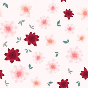 Nahtloses blumenmuster der weinlese von bunten gartenblumen für gewebe