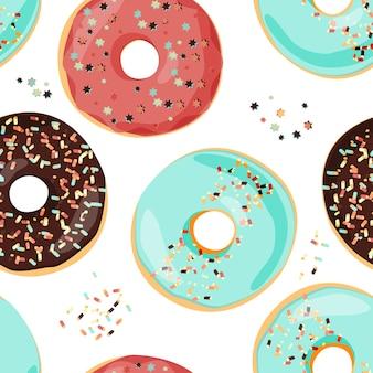Nahtloses buntes donutmuster