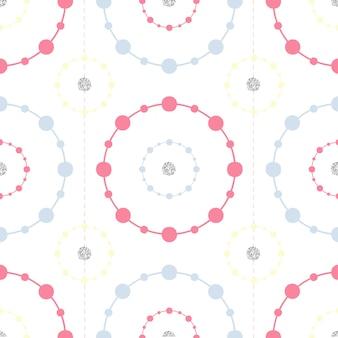 Nahtloses buntes punktmuster mit silbernem funkelnhintergrund