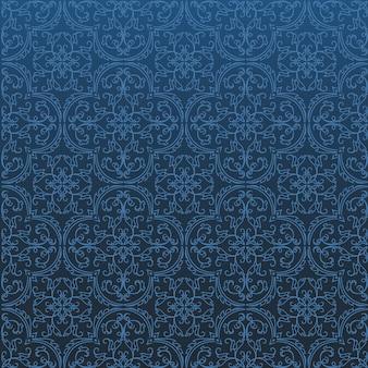 Nahtloses damast-hintergrund-muster-design und tapete gemacht von den türkischen beschaffenheits-keramikziegeln im vektor