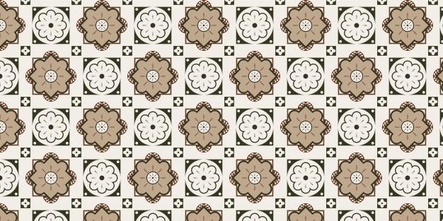 Nahtloses dekoratives fliesenmusterdesign