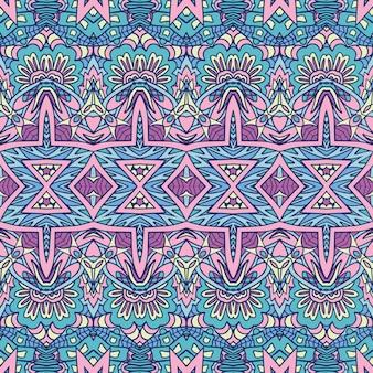 Nahtloses dekoratives muster des geometrischen ethnischen druckzusammenfassungs-dekorativen vektors