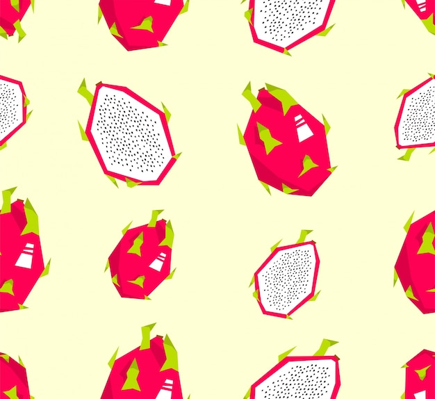 Nahtloses drachenfruchtmuster