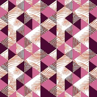 Nahtloses dreieckmuster der hippie-zusammenfassung