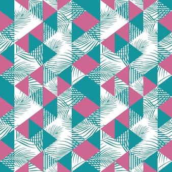 Nahtloses dreieckmuster mit weiblichen farben