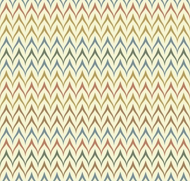 Nahtloses ethnisches textilnahtloses vektormuster. geometrischer, dünner, nativer zick-zack-druck. folk mexikanische ornament. altes design im afrikanischen stil. einfache linie retro-farbhintergrund. chevron-tuch für kinder.