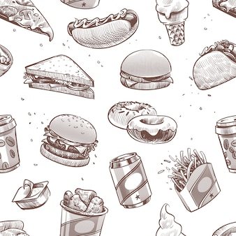 Nahtloses fast-food-muster