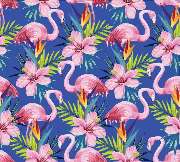 Nahtloses flamingo-muster