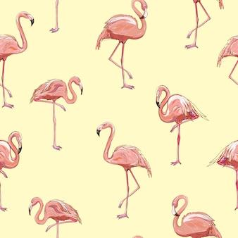 Nahtloses flamingomuster