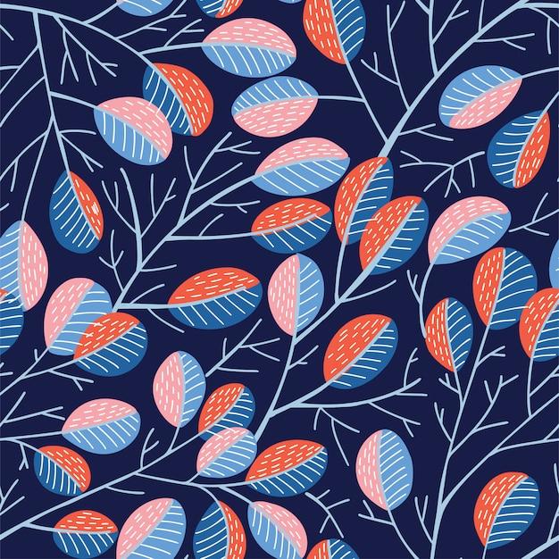 Nahtloses frühlingsbaummuster
