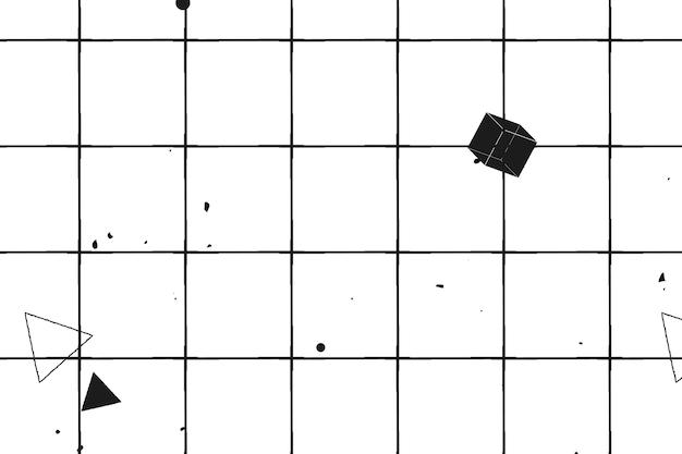 Nahtloses geometrisches 3d-muster auf weißem hintergrund