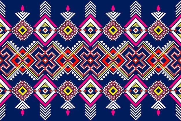 Nahtloses geometrisches ethnisches asiatisches orientalisches und traditionelles muster für textur und bachground Premium Vektoren