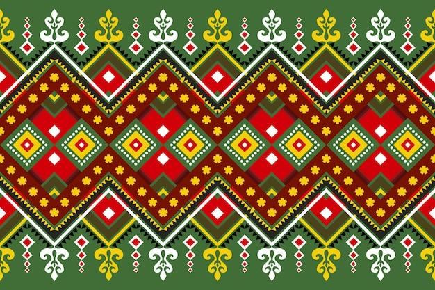 Nahtloses geometrisches ethnisches asiatisches orientalisches und traditionelles musterdesign für beschaffenheit und bachground. seiden- und stoffmusterdekoration für teppich, kleidung, weihnachtsferien.