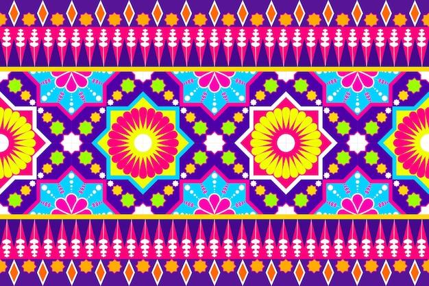 Nahtloses geometrisches ethnisches asiatisches orientalisches und traditionelles musterdesign für beschaffenheit und bachground. seiden- und stoffmusterdekoration für teppiche, kleidung, verpackungen und tapeten