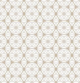 Nahtloses geometrisches muster basiert auf japanischem verzierung kumiko.
