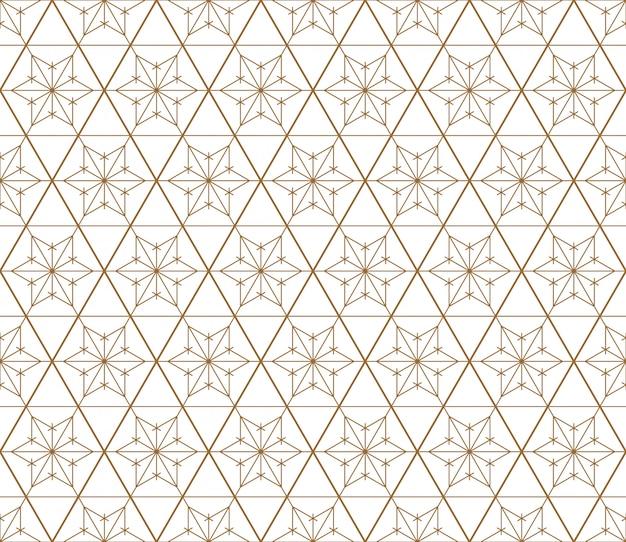 Nahtloses geometrisches muster basiert auf japanischer art kumiko.